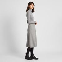 UNIQLO 优衣库 418881 女款羊毛混纺喇叭裙