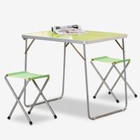 移动端 : 双鑫达 户外桌椅套装 野外便携式野餐可折叠桌椅子露营烧烤桌 1桌2凳 TB-22