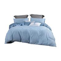 MERCURY 水星家纺 禅叶浮影 全棉床上四件套 1.8m床