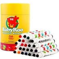 美乐 儿童水彩笔24色可水洗水彩笔 *3件