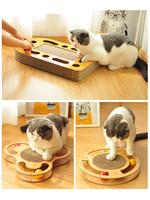 猫抓板磨爪器猫玩具沙发保护猫爪板瓦楞纸防猫抓实木可替换猫抓板