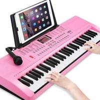 八度宝贝 超大号85cm电子琴 可爱粉