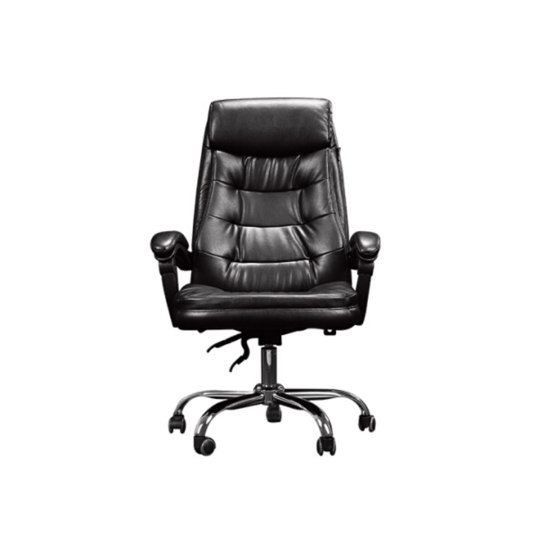 Hbada 黑白调 HDNY066 电脑椅 皮质 黑色