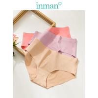 茵曼(INMAN)9892491079-3 纯色简约无痕舒适一片式三条装内裤 混合色 XL