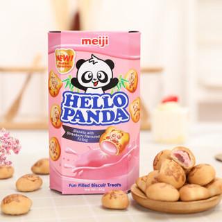 meiji 明治 草莓夹心饼干 50g