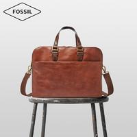 FOSSIL 商务公文包单肩手提斜挎牛皮男士包SBG1223200