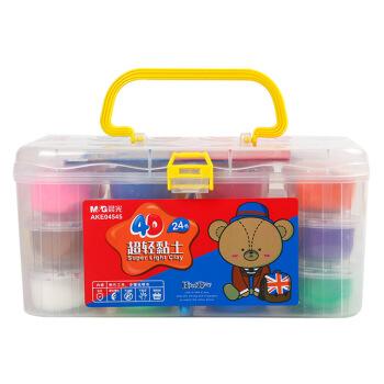 晨光(M&G)文具24色/4D超轻黏土 彩泥粘土橡皮泥 小熊哈里系列盒装儿童手工DIY玩具(适合3岁以上)AKE04545 *3件
