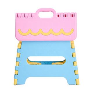 沃特曼Whotman 儿童折叠凳子加厚便携式钓鱼椅火车手提小板凳塑料马扎写生椅粉色WD3120