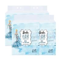芭比 小蓝裙可湿水纸巾抽纸 4层12包90抽 *2件