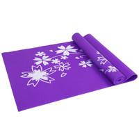 PVC印花 防滑防潮健身瑜伽垫 运动垫子 紫色4MM