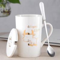 创意十二生肖可爱陶瓷杯子420ml