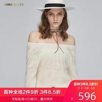 Miss Sixty冬季系带宽松长袖毛织套头衫毛衣女