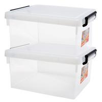 限地区 : Jeko&Jeko SWB-5291 塑料收纳透明整理箱 20L 高透 2只装