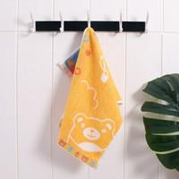 儿童毛巾纯棉柔软吸水成人洗脸毛巾25*50cm 橙色 25*50cm