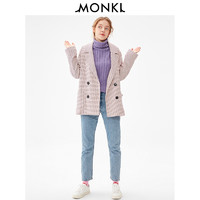 MONKI 0720864 女士粉色格纹小西装