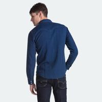 Levi's李维斯 男士休闲翻领牛仔长袖衬衫65816-0322Levis 牛仔蓝 L