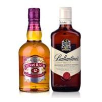 芝华士12年威士忌500ml+百龄坛特醇 500ml
