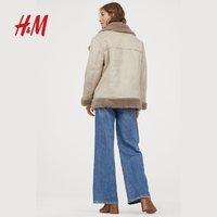 H&M 0799329 毛绒衬里机车外套
