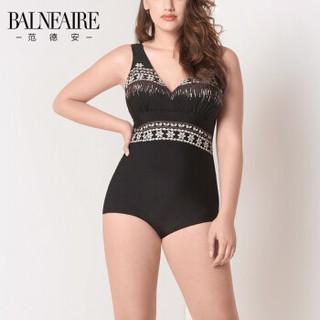 BALNEAIRE 范德安 60078 女士连体泳衣 黑色 L