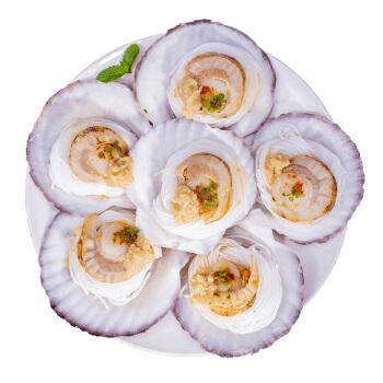 獐子岛 冷冻蒜蓉粉丝扇贝(MSC认证) 1.2kg 36只 虾夷扇贝 家庭礼盒装 年货食材 海鲜水产