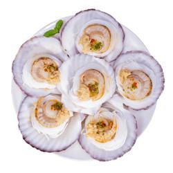 獐子岛 冷冻蒜蓉粉丝扇贝(MSC认证)1.2kg  *3件
