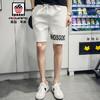 美国苹果 AEMAPE 休闲短裤男2019夏季新款五分裤男潮流修身薄款沙滩裤休闲舒适运动裤 白色 2XL