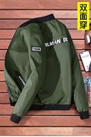 双面穿新款春秋装男士外套夹克棒球服青少年韩版潮流休闲修身衣服