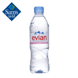 evian依云 法国进口 天然矿泉水500ml*24支 整箱装 饮用水 纯净水