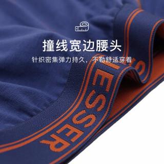 SCHIESSER舒雅男士内裤男棉短裤四角舒适透气平角裤头【2条装】 E5/2063T E5-宝蓝+橘色(7821) XL