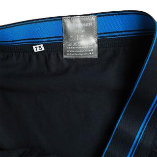 SCHIESSER舒雅男士内裤男棉短裤四角舒适透气平角裤头【2条装】 E5/2063T E5-中彩蓝+宝蓝(7881) XXL