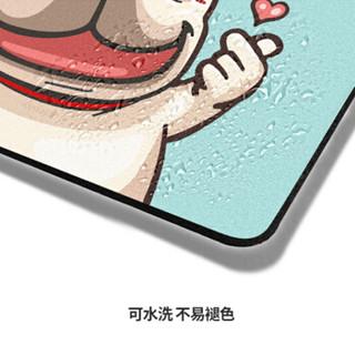 玲魅 鼠标垫小号  锁边方形定制创意防滑可水洗便携笔记本电脑鼠标垫260*210MM比心法斗