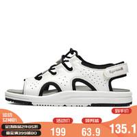 Sprandi斯潘迪女鞋2020年新品轻便运动凉鞋魔术贴拖鞋女士休闲鞋 白色/黑色 37.5 *2件