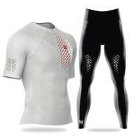 COMPRESSPORT马拉松户衣裤 越野跑控姿黑色短袖+越野跑掌控长裤 S
