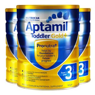爱他美(Aptamil)澳洲原装进口婴幼儿奶粉金装 3段三罐 保质期21年12月