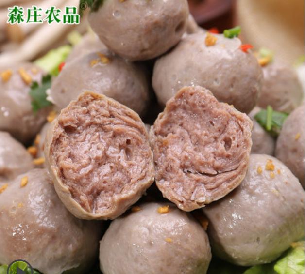 森庄农品 潮汕牛肉丸手打牛筋丸 250g