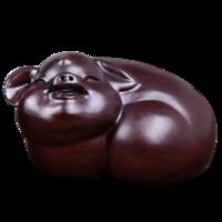 寻古黑檀木雕猪年吉祥物摆件家居客厅招财装饰品工艺品十二生肖猪