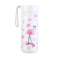 台湾Artiart创意不倒杯保温杯女时尚水杯保温壶男大容量便携茶杯真空不锈钢杯子400ml 火烈鸟