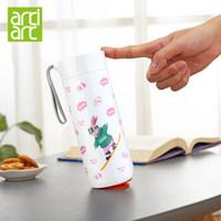 台湾Artiart创意不倒杯保温杯女时尚水杯保温壶男大容量便携茶杯真空不锈钢杯子400ml 滑板兔