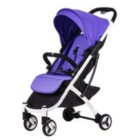 Babyruler婴儿推车 婴儿车可坐可躺超轻便宝宝手推车可上飞机伞车可折叠四轮避震0-3岁 葡萄紫(送两件套)