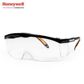霍尼韦尔(Honeywell)100110 护目镜S200A系列 黑色透明镜片 男女防风 防沙 防尘 防雾 骑行眼镜