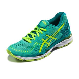 ASICS亚瑟士 稳定透气跑鞋 运动鞋女跑步鞋GEL-KAYANO 23 T696N-1978 黄白色/黄色/蓝色 40