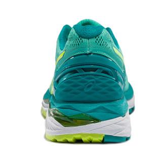 ASICS亚瑟士 稳定透气跑鞋 运动鞋女跑步鞋GEL-KAYANO 23 T696N-1978 黄白色/黄色/蓝色 39