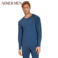 爱慕先生保暖内衣暖阳AIR圆领单层薄款男士保暖上衣秋衣 NS72A572蓝色180/L