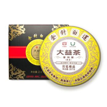 TAETEA 大益 金针白莲 普洱熟茶 宫廷臻品 357g*7盒