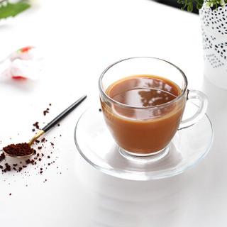 Duralex多莱斯 法国原装进口 欧式钢化玻璃 咖啡杯碟 220ml 2只装