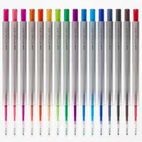 uni 三菱 彩色中性笔UMN-139按动水性笔 16支混色