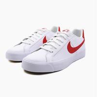 NIKE 耐克 COURT ROYALE AC  男女休闲鞋 BQ4222-001 白色/大学红-棕色 45码