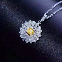 【转运黄水晶】爱在心底AITEKA爱缇卡天然黄水晶锆钻雏菊项链优雅知性原创精工轻奢项链MM9