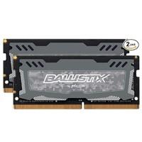 crucial 英睿达 Ballistix 铂胜 Sport LT DDR4 2666 笔记本内存 32GB(16GB*2)
