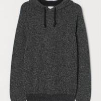 H&M 0786093  男士毛衣针织连帽套衫